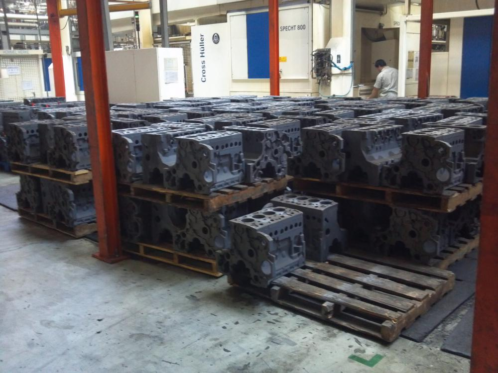 engine cylinder block processing line