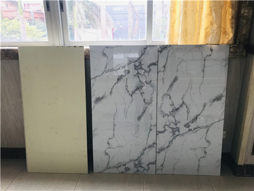 1200*2400mm or 4*8 feet large sheet of white marble stone fiber cement wall panel