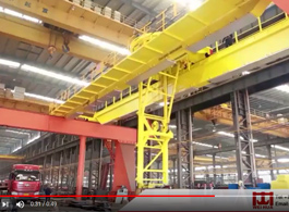 Metallurgy Overhead Crane with Rotary Fork Lifter