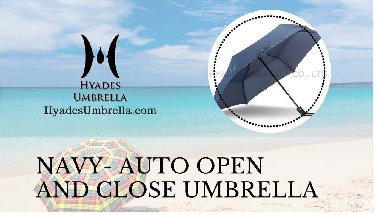 Awesome Deals of Wind Resistant Navy 3 Folding Umbrella