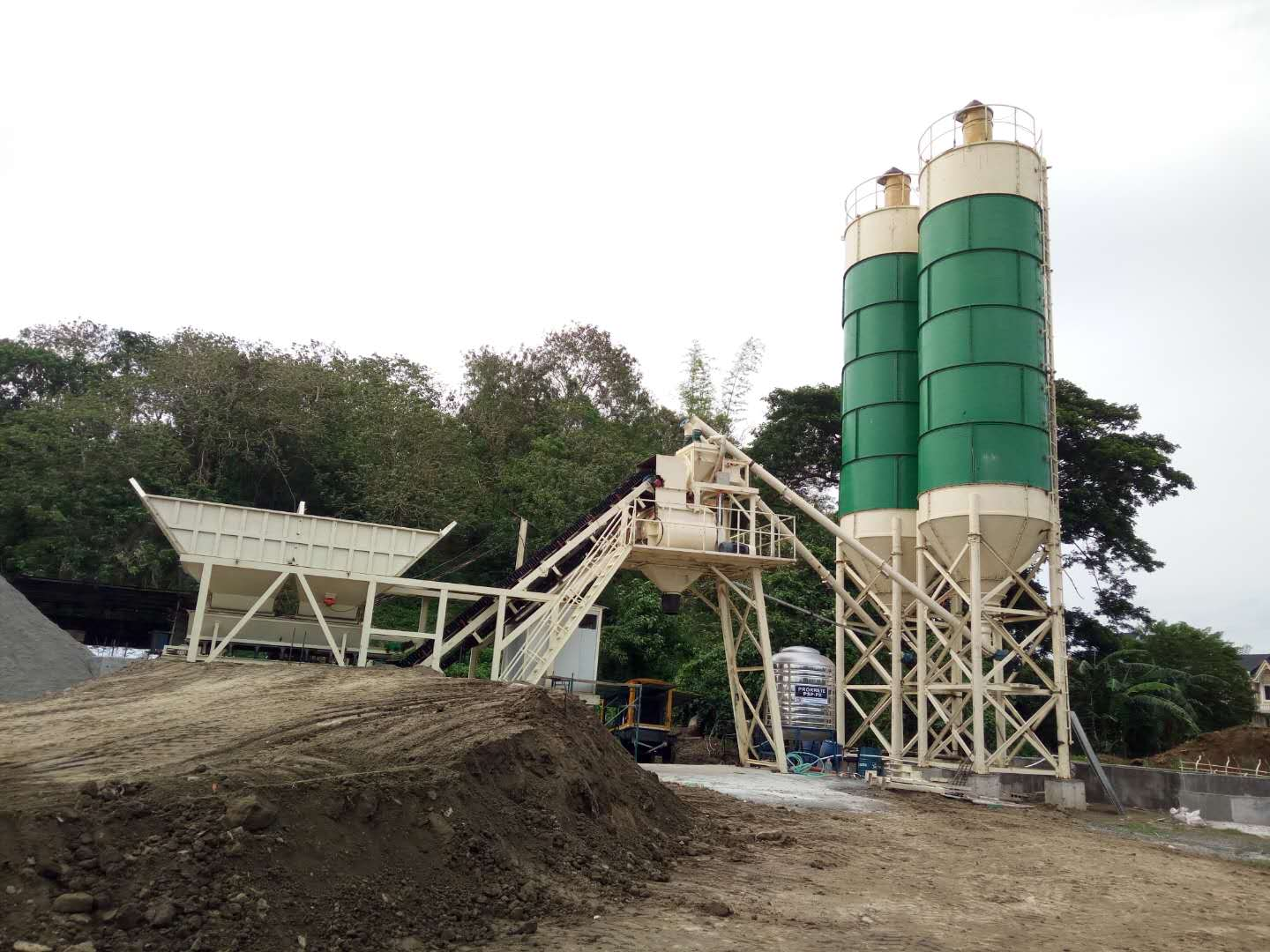 New Mobile Concrete Batching Plant in Philippines.