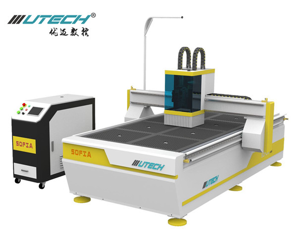 Sign Cnc Router with Oscillating Knife and visual positioning system