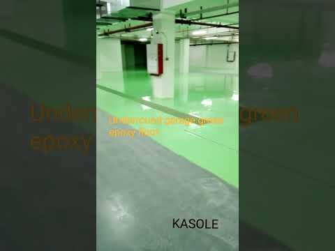 Underground garage green epoxy floor