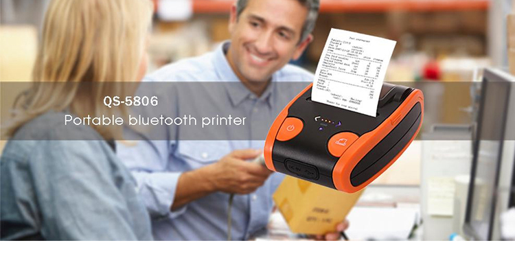 Portable bluetooth printer