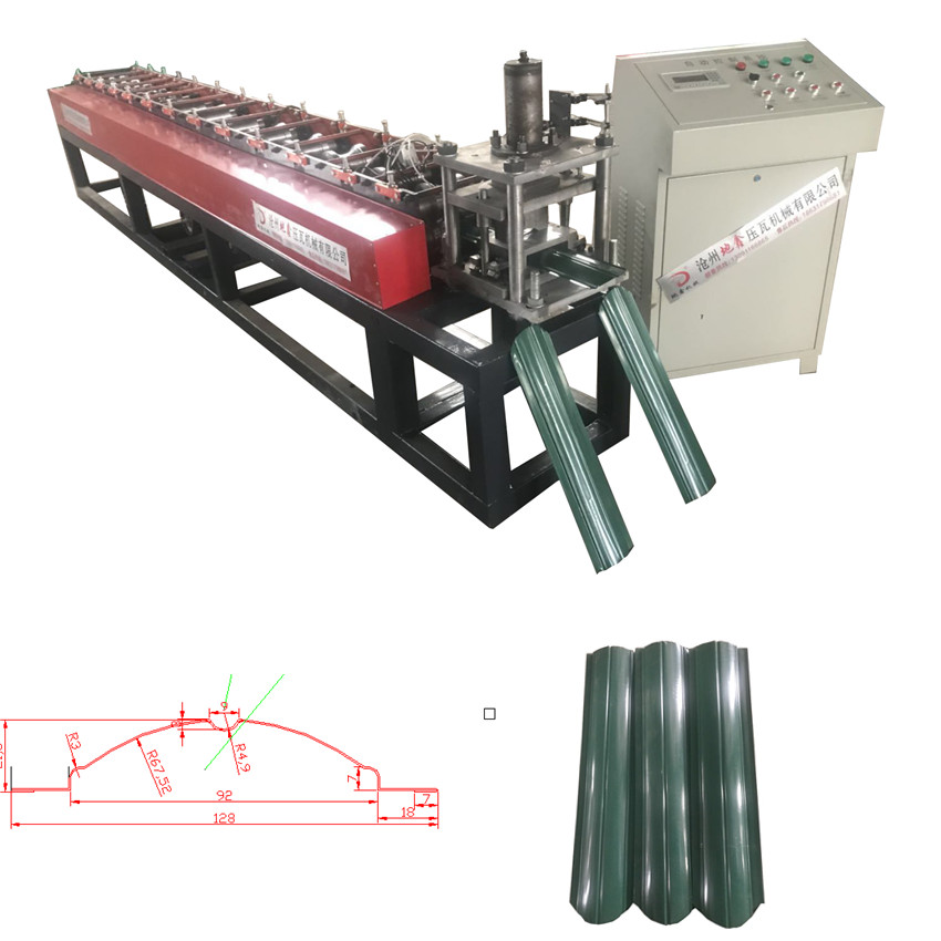 Metal fence molding machine