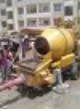 Work video for small mobile concrete pump with mixer