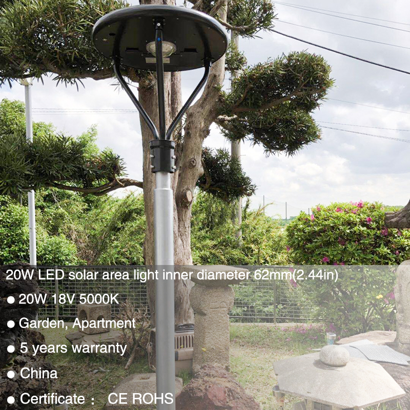 20w solar led post top light