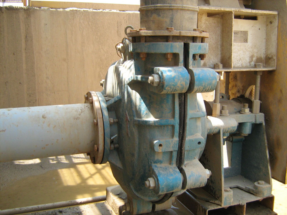 Slurry Pump used in Peruvian Quarries