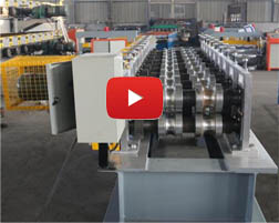 Stair railing roll forming machine