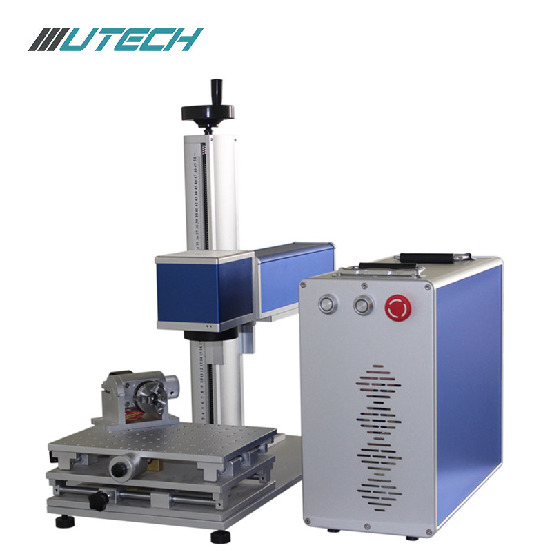 Gold silver jewelery fiber laser marking machine 30W