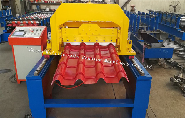 High Speed Tarcking Cutting Glazed Tile Roll Forming Machine