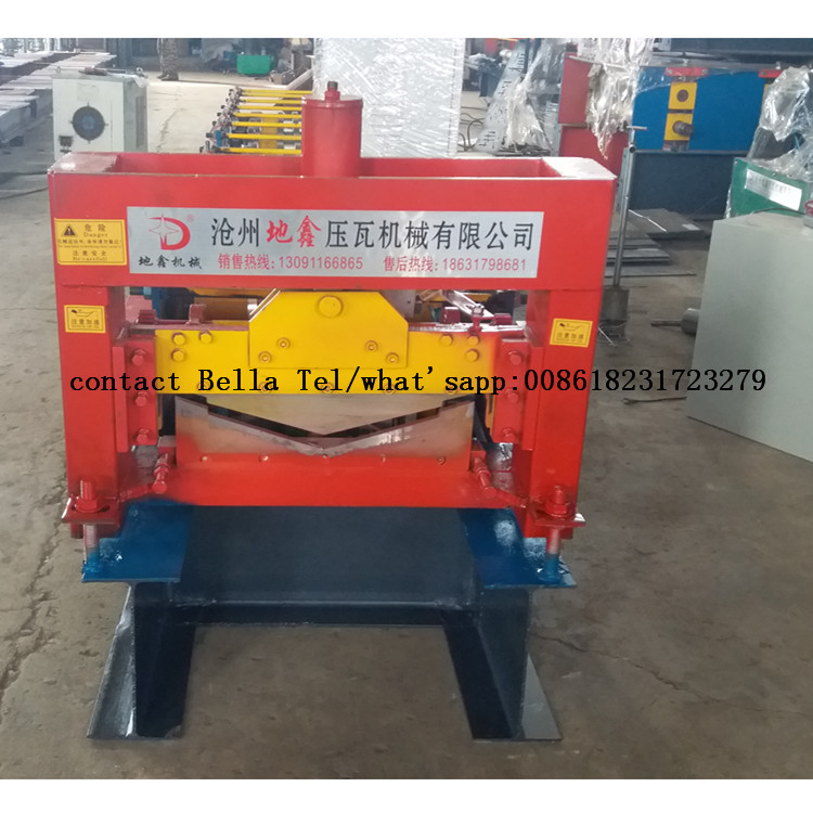Steel metal ridge cap panel roll forming machine