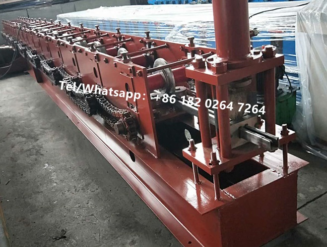 Steel Shutter Door Siding U Guide Rail Roll Foming Machine