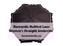 Romantic Ruffled Lace Women's Straight Umbrella