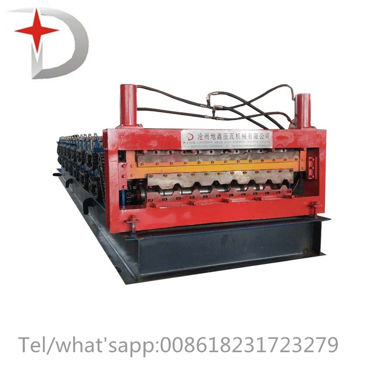 Double layer trapezoidal tile roll forming machine