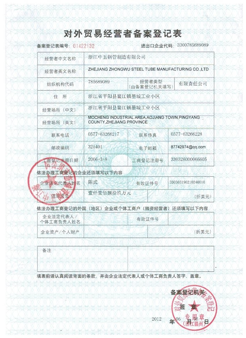 Export Permit License