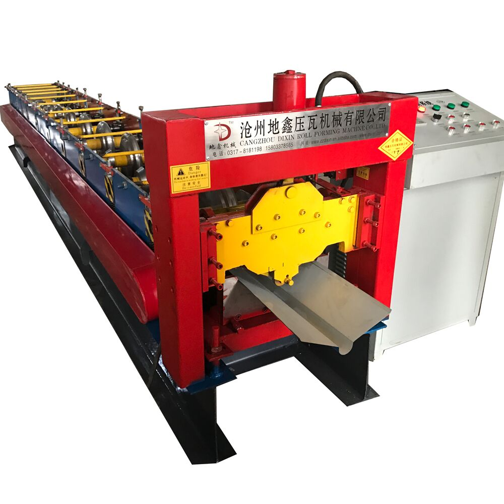 Galvanized steel ridge cap roll forming making machine