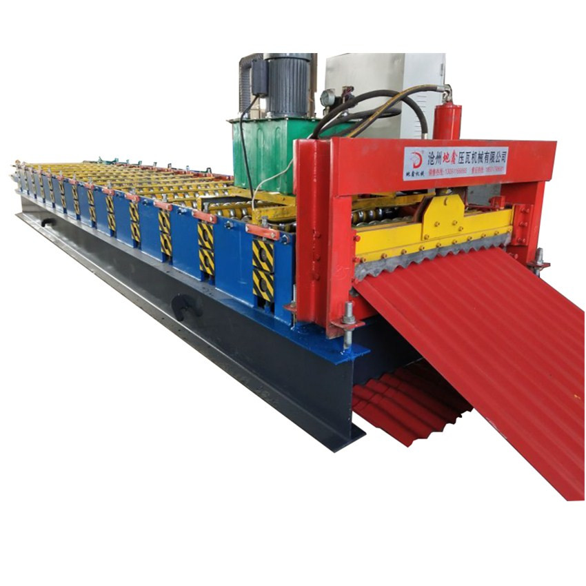 836 Color Steel Corrugated Profile Roofing Tile Roll Forming Machine