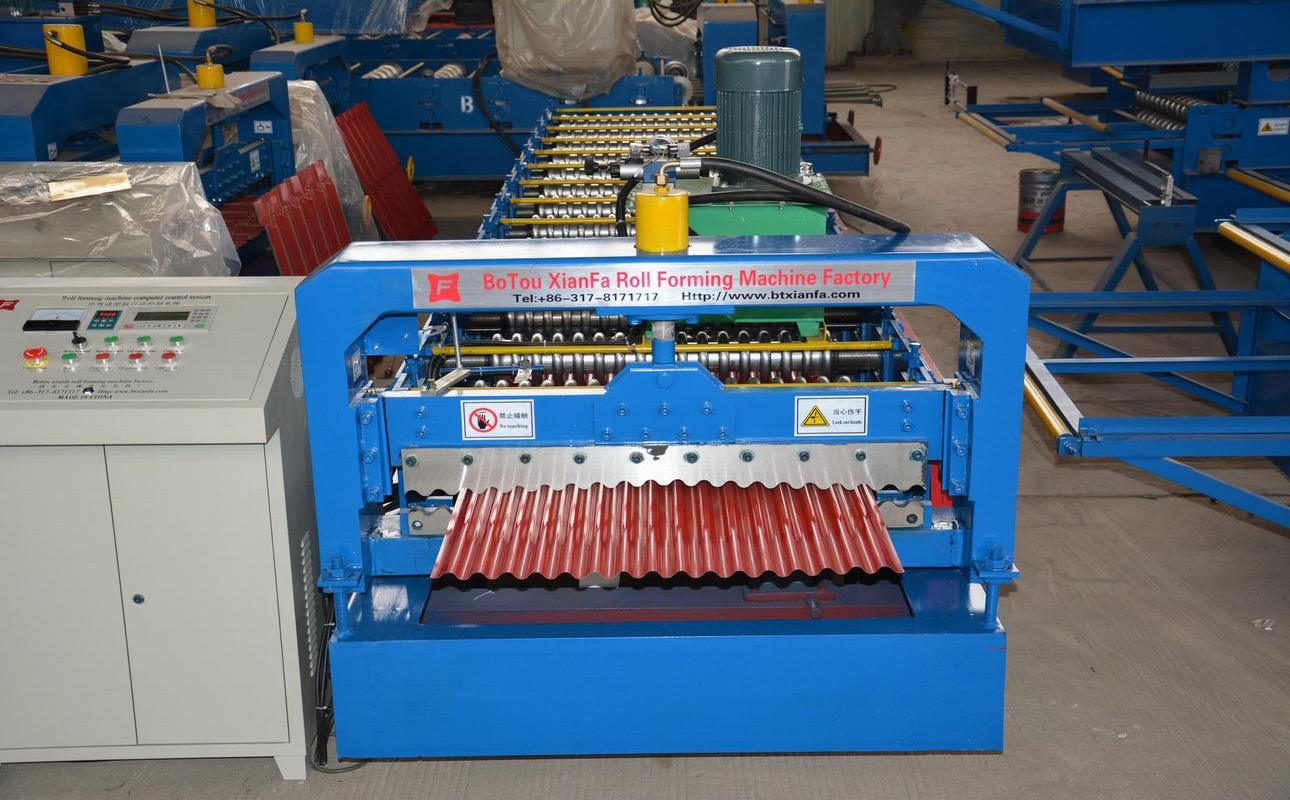 Roof Corrugated Steel Roll Forming Machine