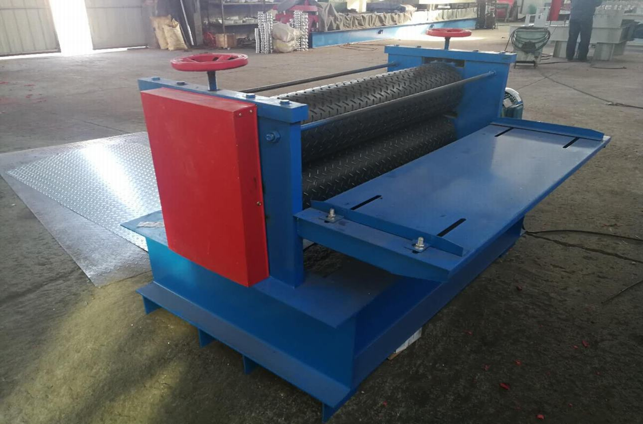 Aluminum plate embossing machine