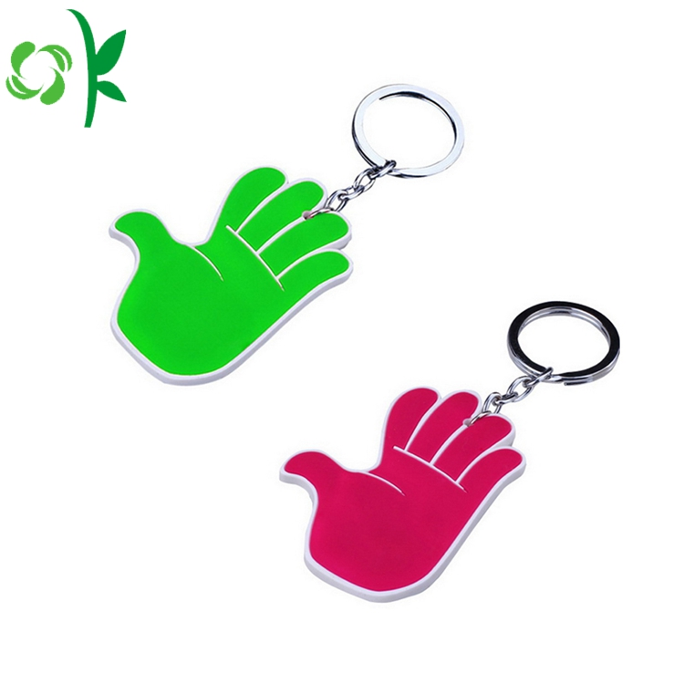 Silicone key chain for protecting and decorating keys