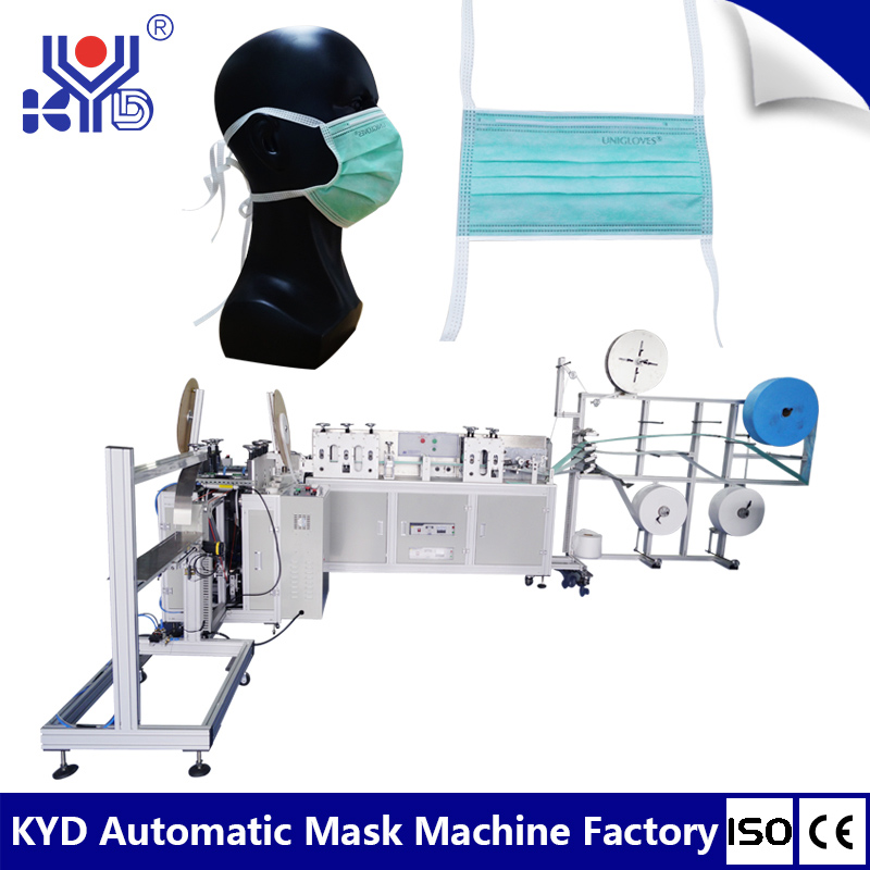 Fully auto one-plus-one tie type mask making machine