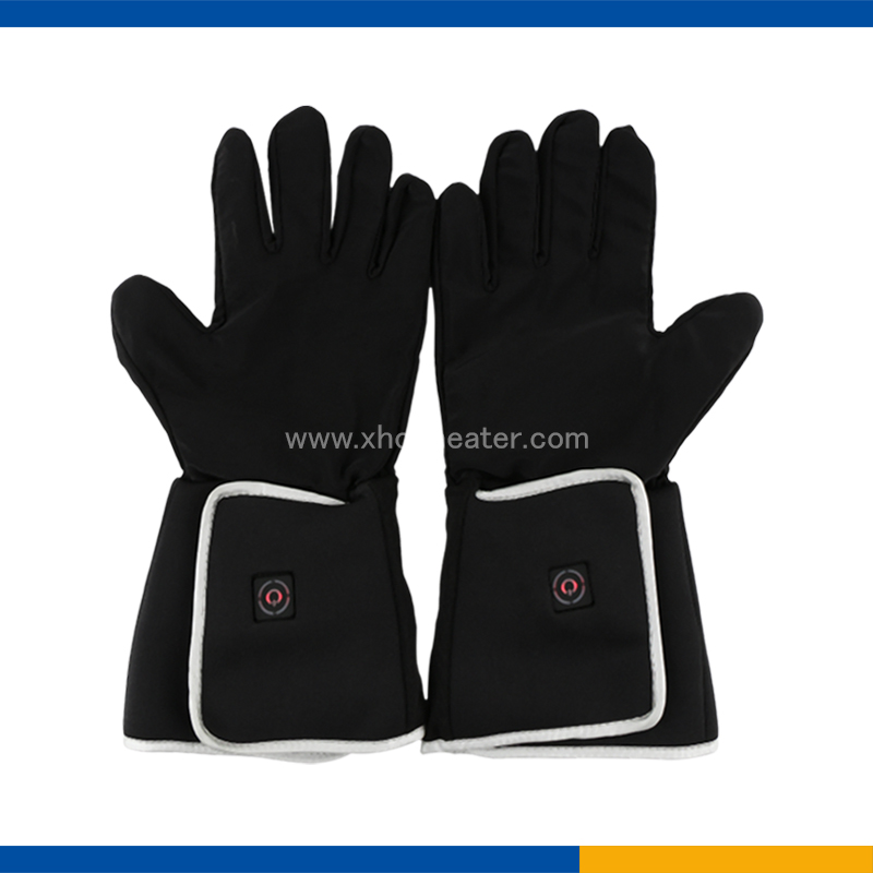Men's Heated Snow Gloves with One Button control