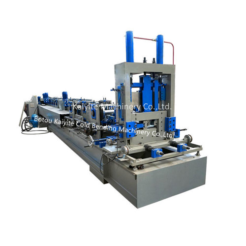 Interchangeable C Z Channel Purlin Roll Forming Machine With Punching Hole