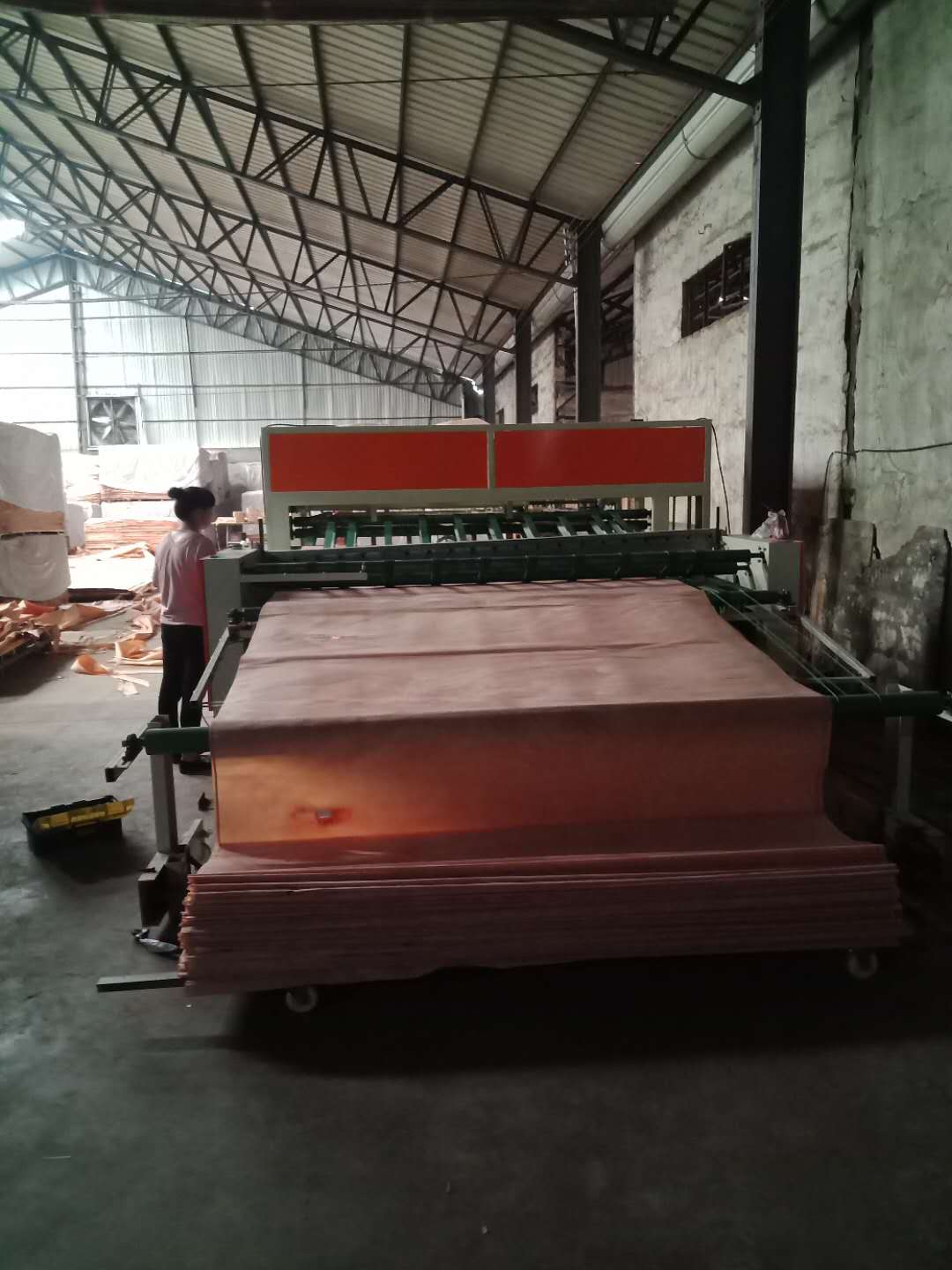 Wire rope face veneer dryer