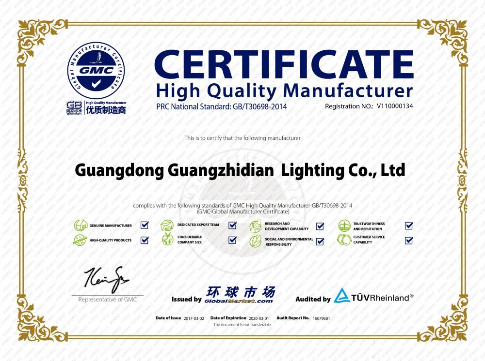 Certificate high quality manufacturer