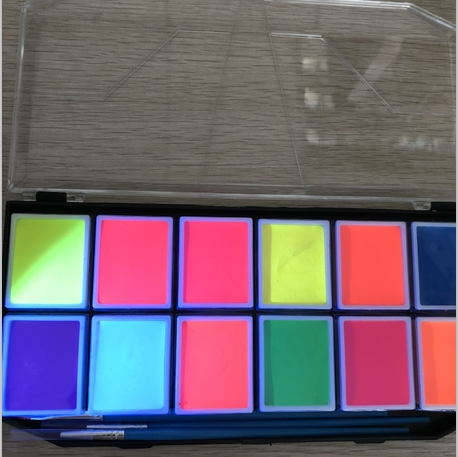 uv neon face paint kit pallet