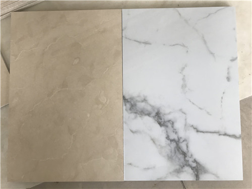 White marble stone wall panel, magnesium oxide board wall cladding