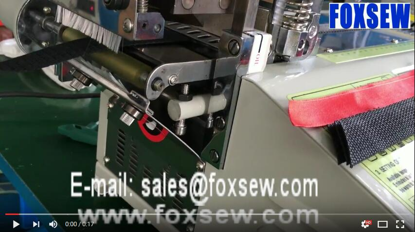 Automatic Bevel and Straight Ribbon Tape Cutter