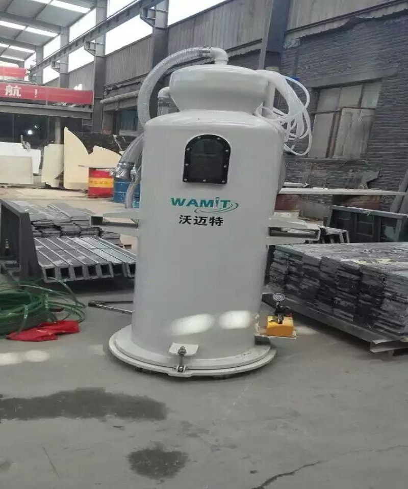 abrasive sand removal system for water jet cutting machine