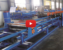 W-beam 2 waves guardrail roll forming machine