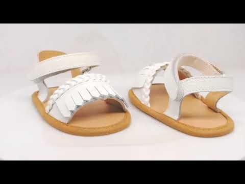 Cheap Small MOQ Shoes Wholesale Fancy Leather Baby Sandals