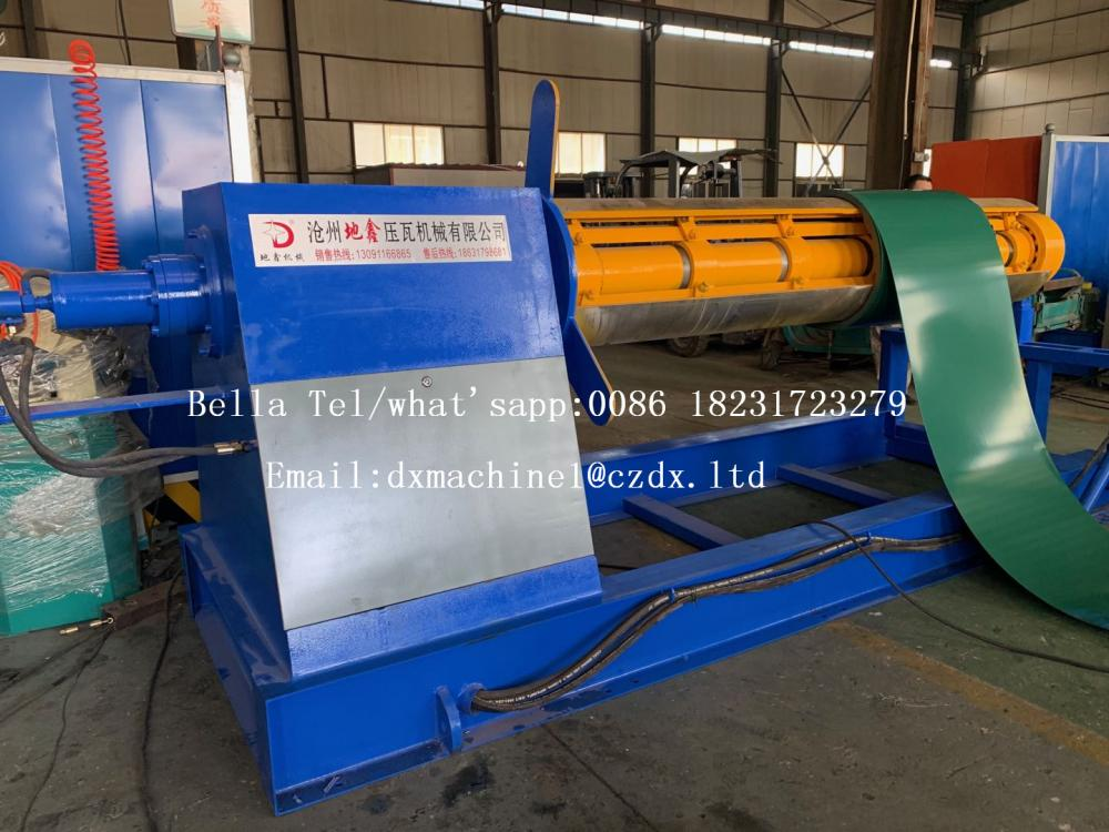steel coiling uncoiler decoiler machine with car
