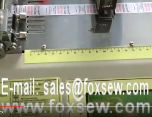 Automatic Hot Knife Cloth Label Cutting Machine with Sensor