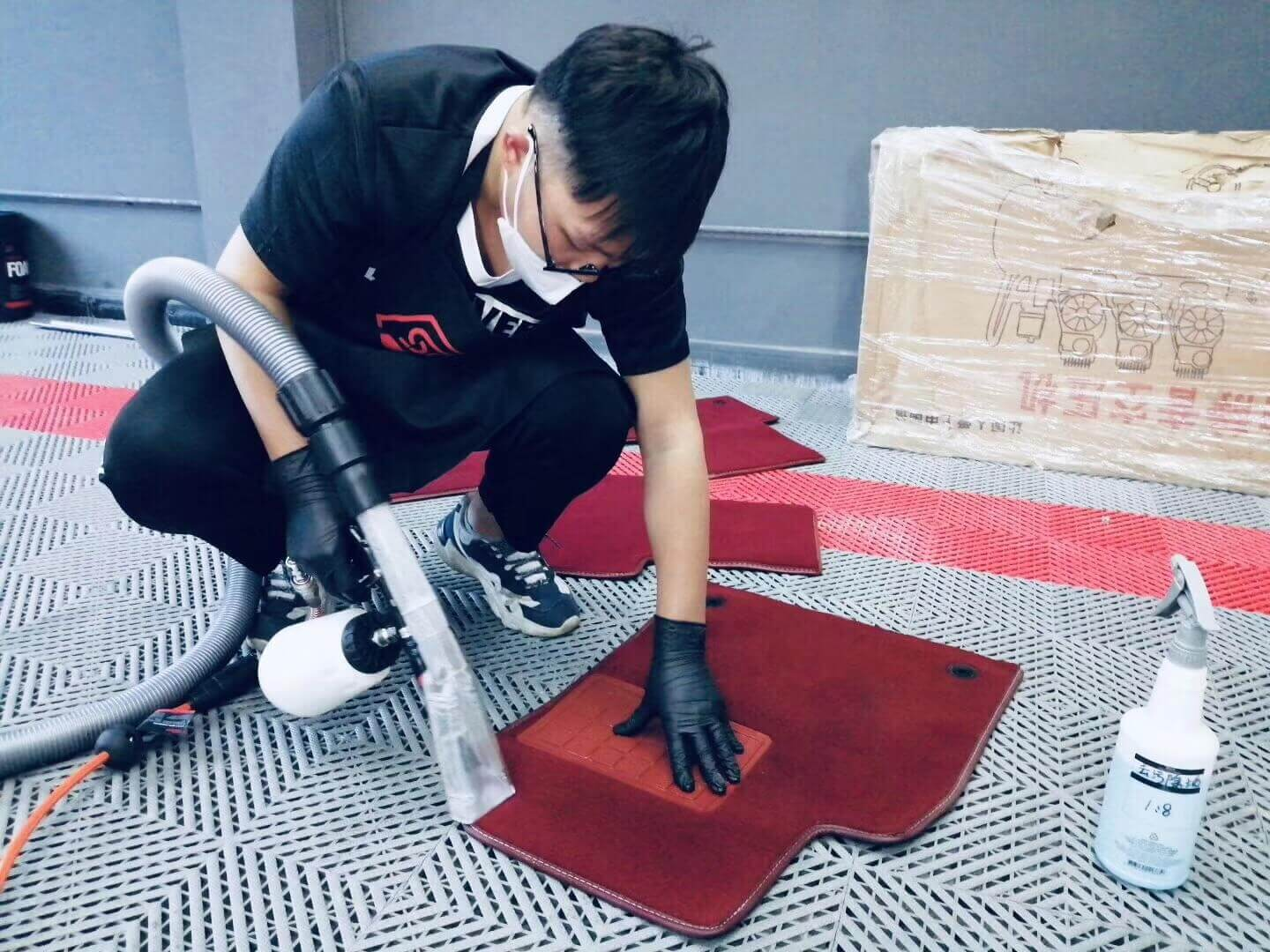 suction cleaning gun clean carpet