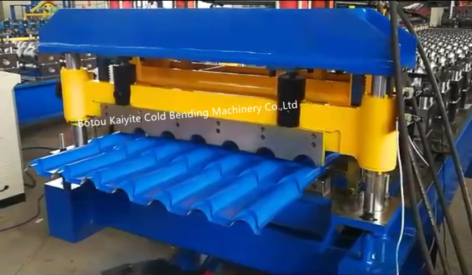 Glazed step roof tile roll forming machine for Nigeria