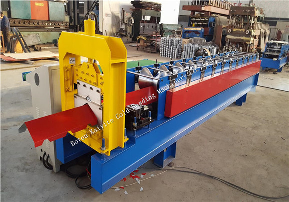 Colorful Steel Roof Ridge Cap Making Machine(the second prat video)