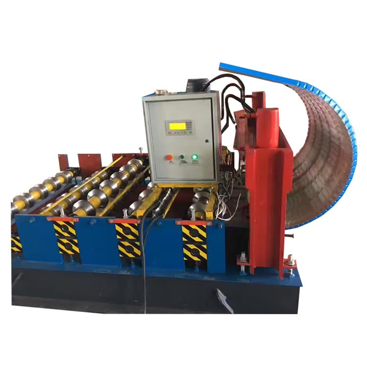 Roof sheet curving roll forming machine