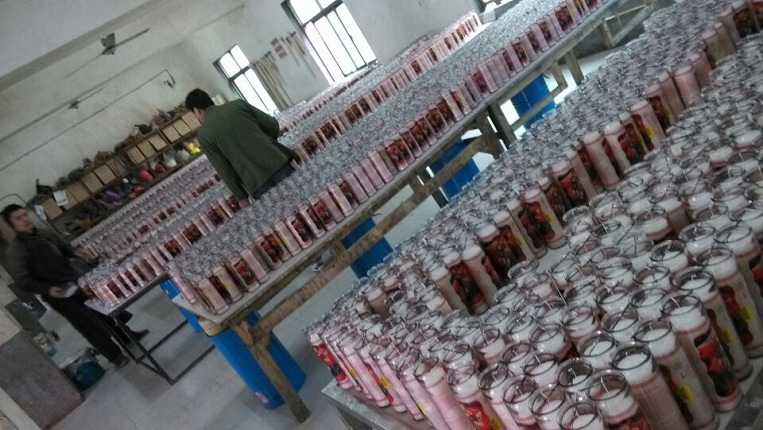 jar candles production