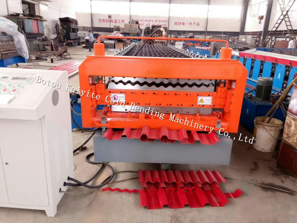 Corrugated And Trapezoid Profile Tile Roll Forming Machine