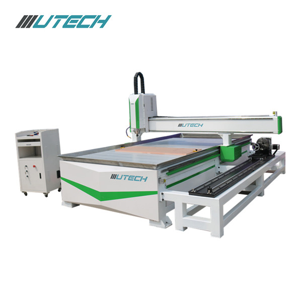 Woodworking Cnc Router with side hanging rotary structure