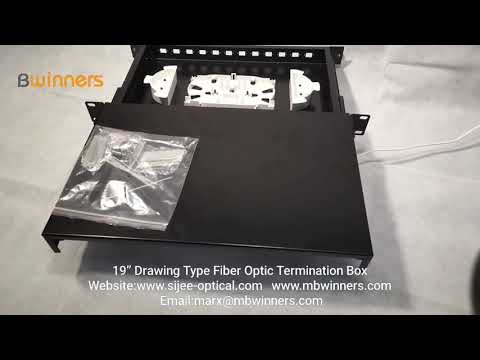 "19"" Drawing Type Fiber Optic Termination Box"