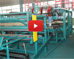 Fully automatic PU sandwich panel rolling forming machine production line