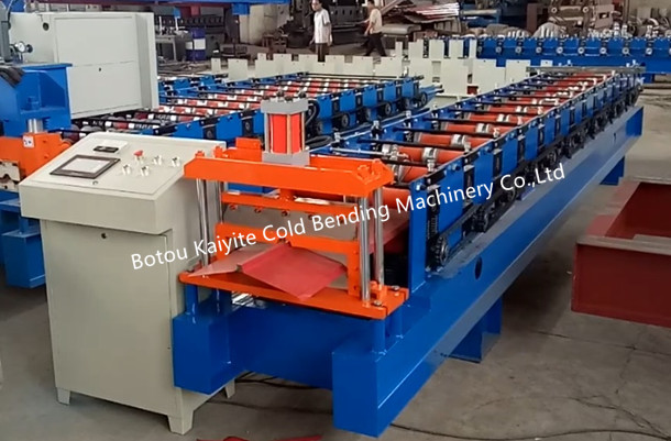Color Steel Triangular Shape Roof Ridge Cap Roll Forming Machine(the first part video)