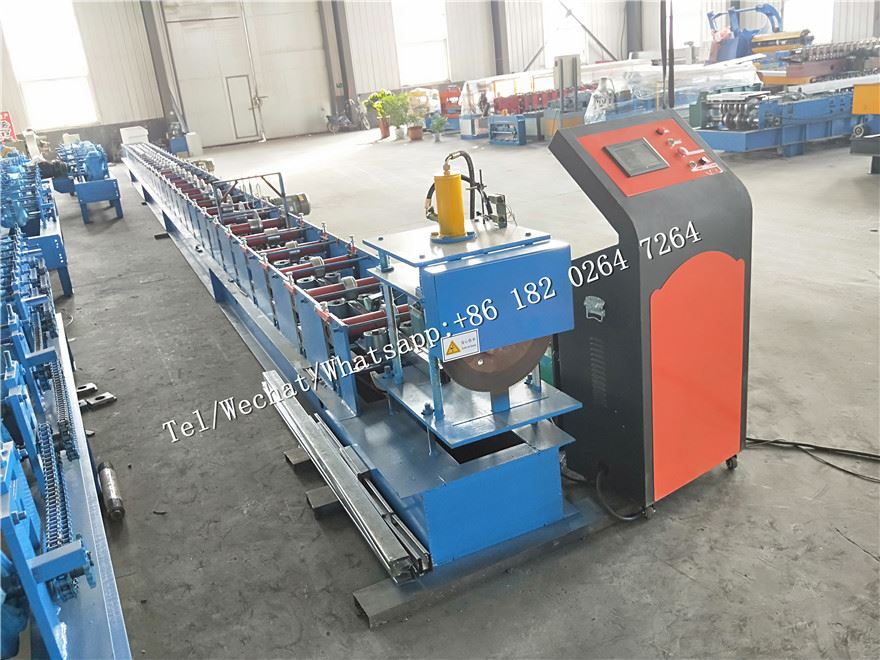 Double Deck Shutter Door U Guide Rail Roll Foming Machine