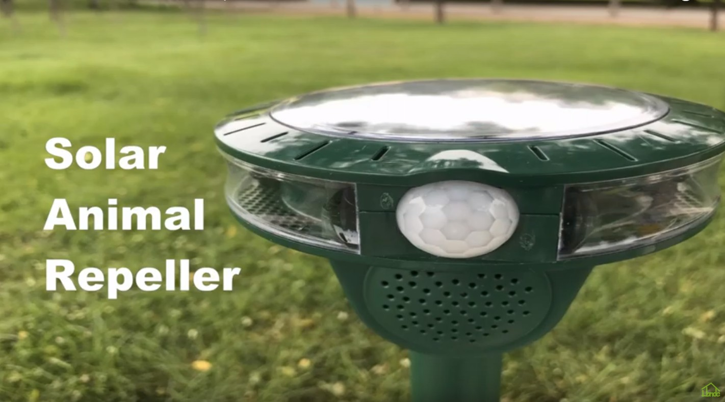 Outdoor Solar Ultrasonic Animal Repeller Protect